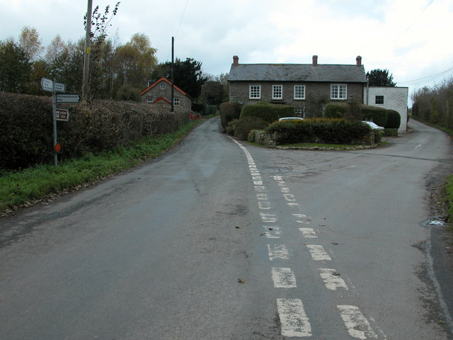 Road junction at Longtown