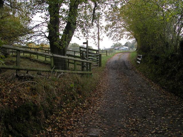 Entrance to Mynydd-ferddin Farm