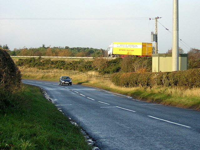 Carlisle Road With M74 Behind