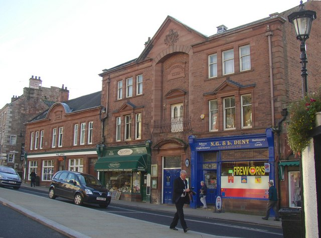 Conservative Club and Post Office, Boroughgate, Appleby
