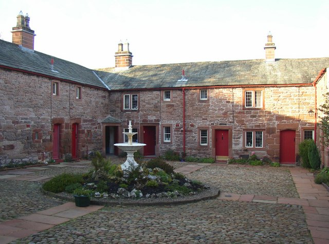 Courtyard of St Anne's Hospital, Appleby
