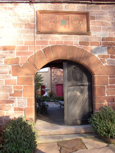 Doorway into St Anne's Hospital, Appleby