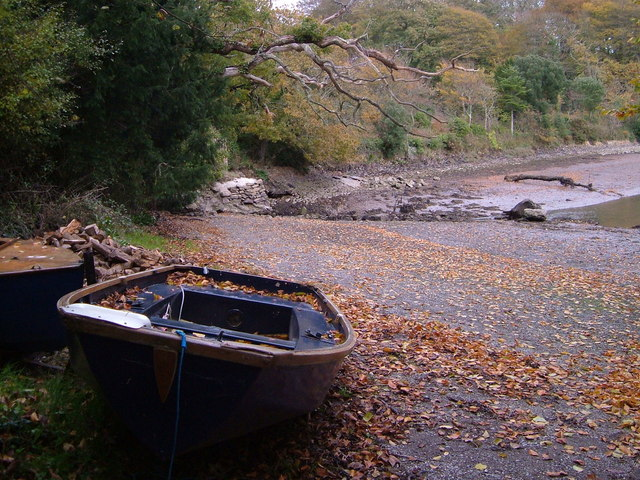 Boat at creek head