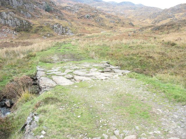 Footbridge on the mine track