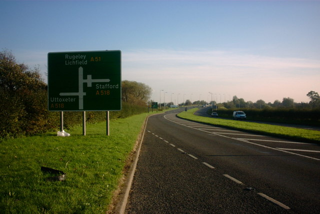 A51 Approaching Weston