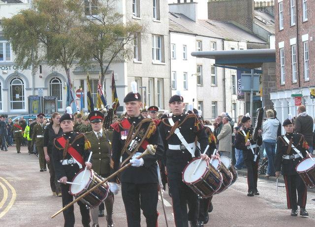 The Caernarfon ACF Corps of Drums