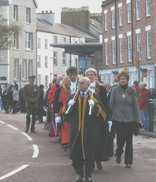 Civic Dignities at the Remembrance Day Marchpast