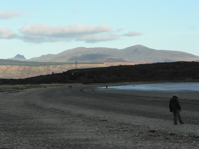 The beach at Carradale Bay