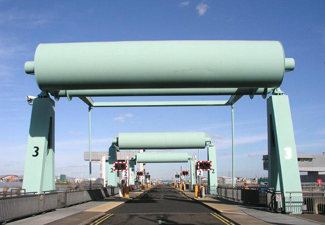 Three Bascule Bridges, Cardiff Bay Barrage