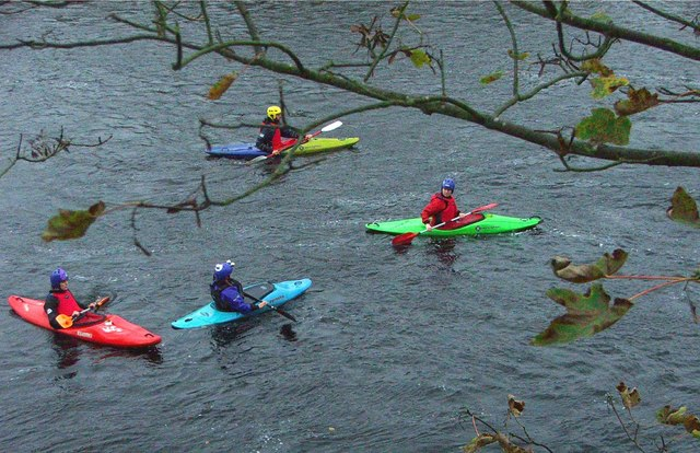 Canoeists on the Tyne