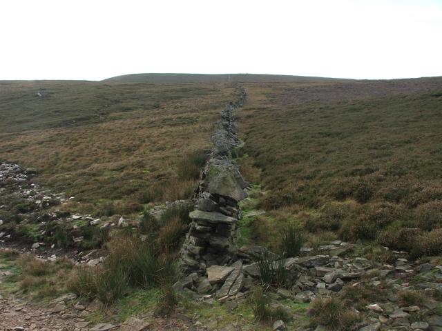 Drystone Wall on Moorland.