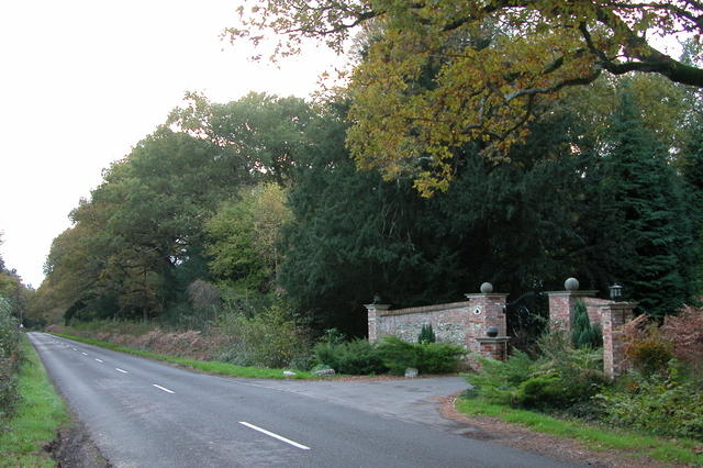 Entrance to Creech House, in the Forest of Bere
