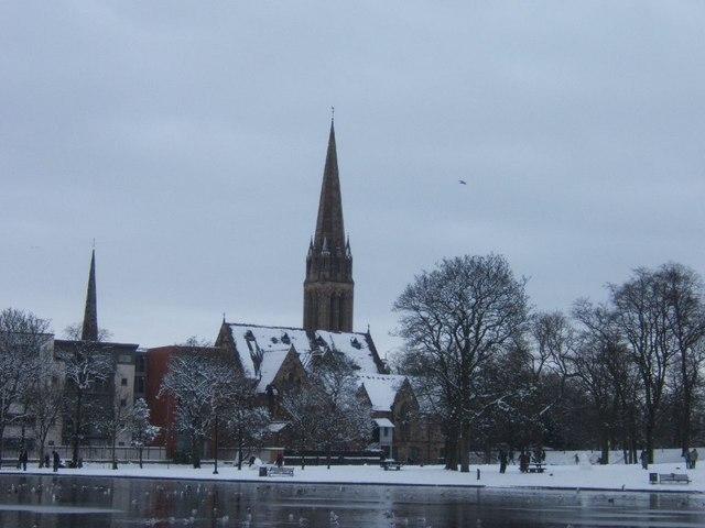 Church beside Queens Park, Glasgow