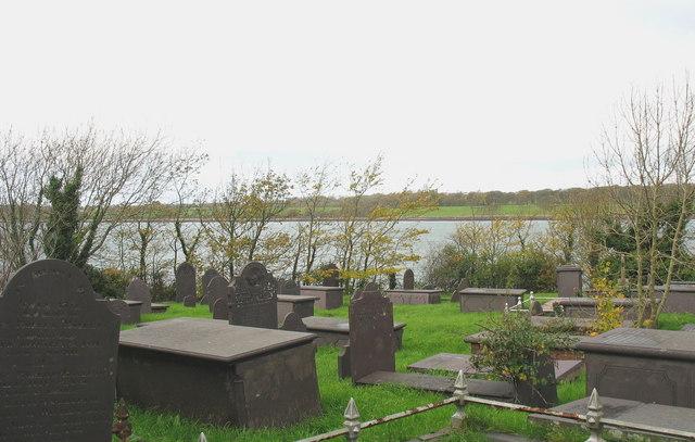 Graveyard above the Menai Straits