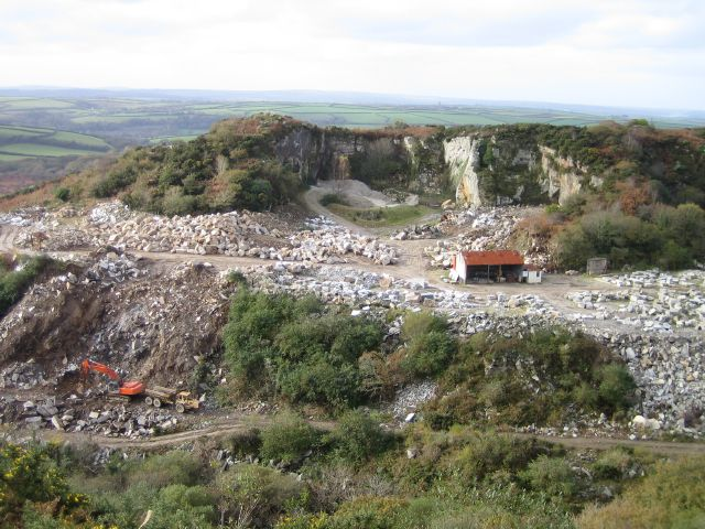 De Lank Quarries, Hantergantick
