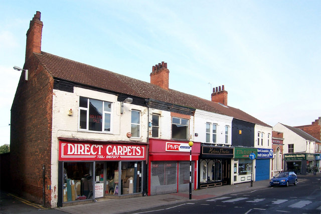 Shops on Scunthorpe High Street