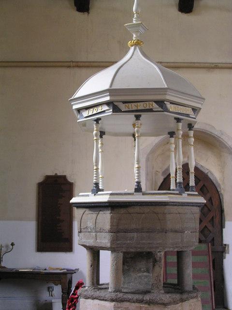 Font, Knapton Church