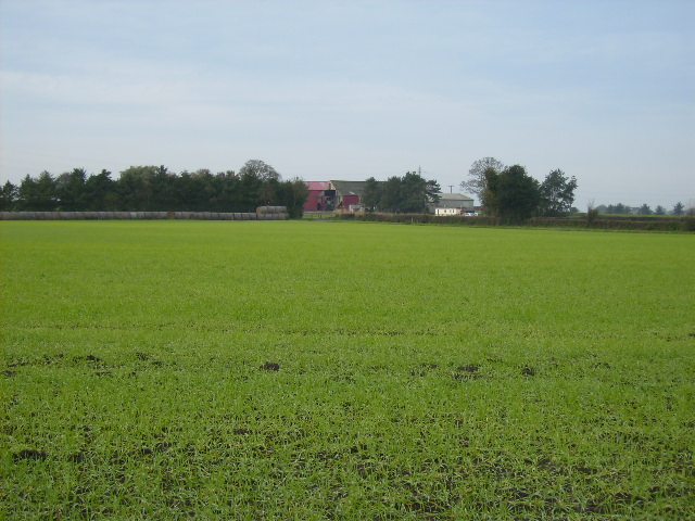 View over field to Red House