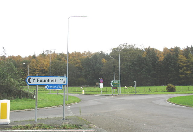 The Felinheli Road and the Felinheli By-pass