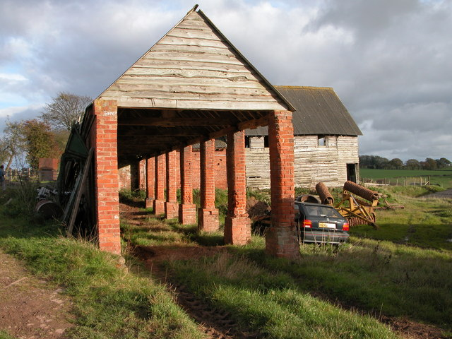 Farm buildings at Burton Court