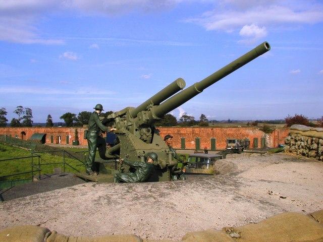 River Defence Gun, Fort Paull