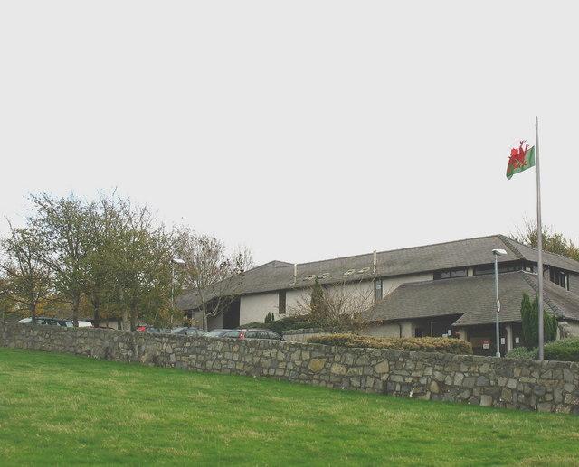 Storage buildings at Plas Menai