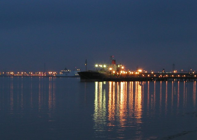 Saltend Jetty by Night