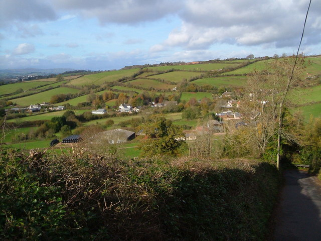 Descending Daccombe Hill