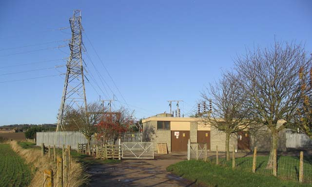 Electricity Sub Station near Low Cocklaw