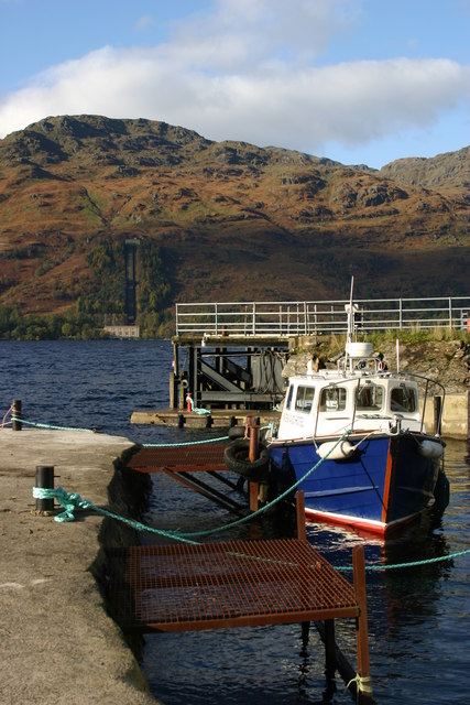 Pier and hotel ferry at Inversnaid