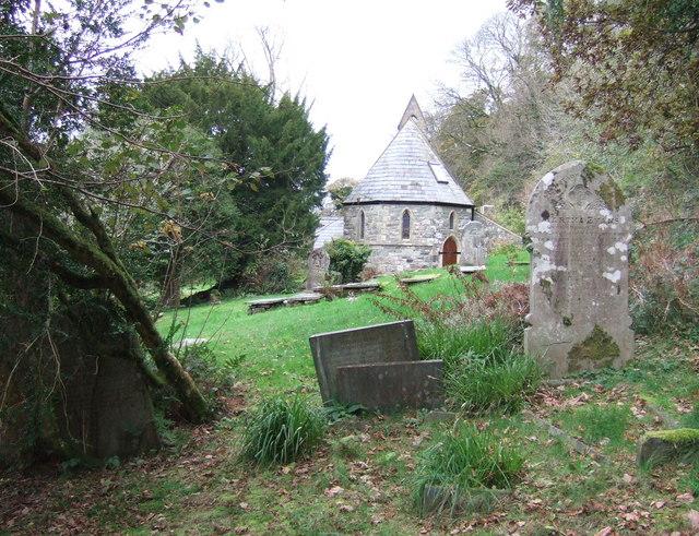 Llanychllwydog church from the east