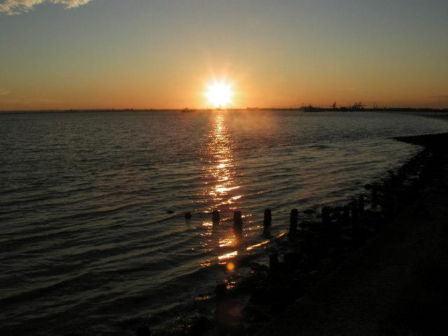Sunset from Paull Car park