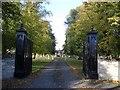 SP9456 : Entranceway to The Mansion, Harrold by Nigel Stickells