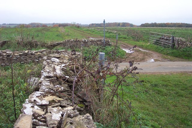 Bridleway and Cotswold stone walls.