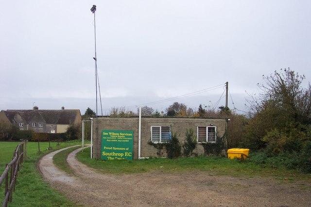 Building at Southrop Football Club