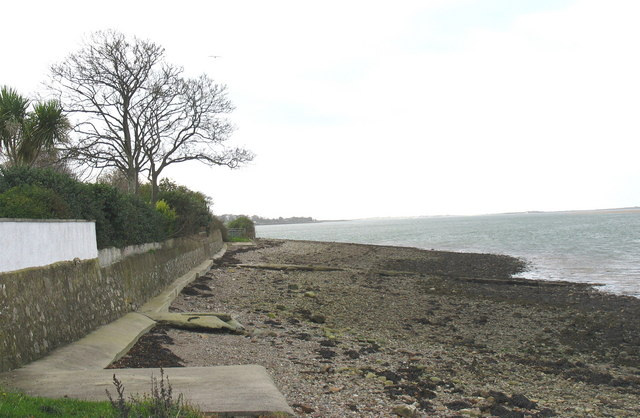 Looking West along the Menai foreshore from Waterloo Port