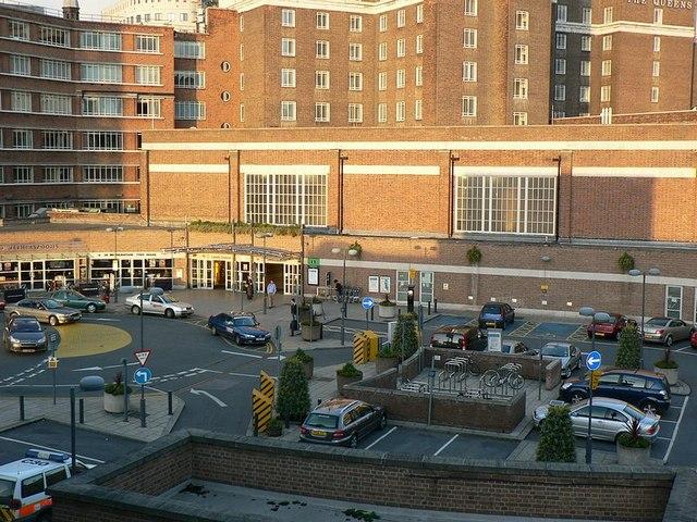 Car park entrance to Leeds Station