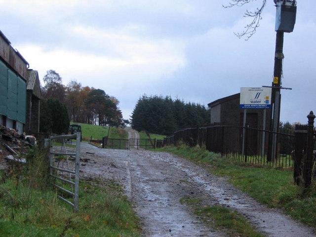 Moorland track through woods beyond Highdykes Service Reservoir