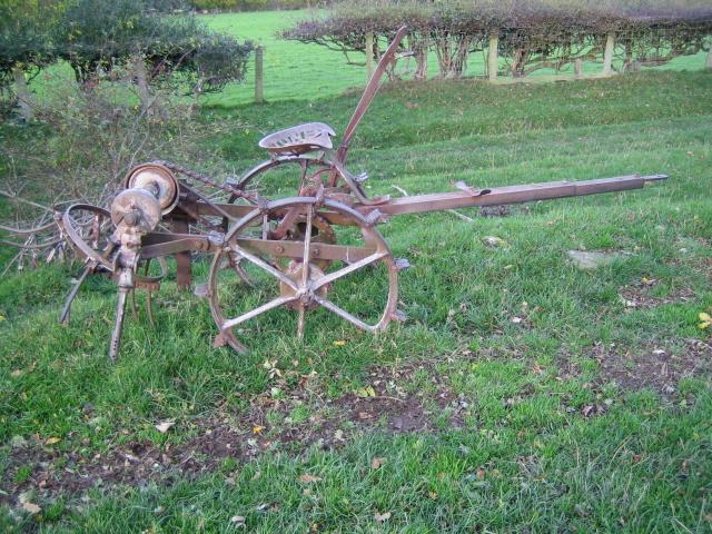 Ancient agricultural equipment near Graig