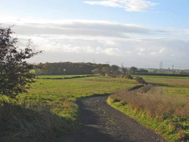 The road to West Carrside Farm, Trimdon