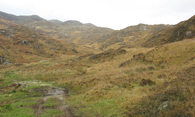 The lower part of Cwm Bleiddiaid from near the footbridge