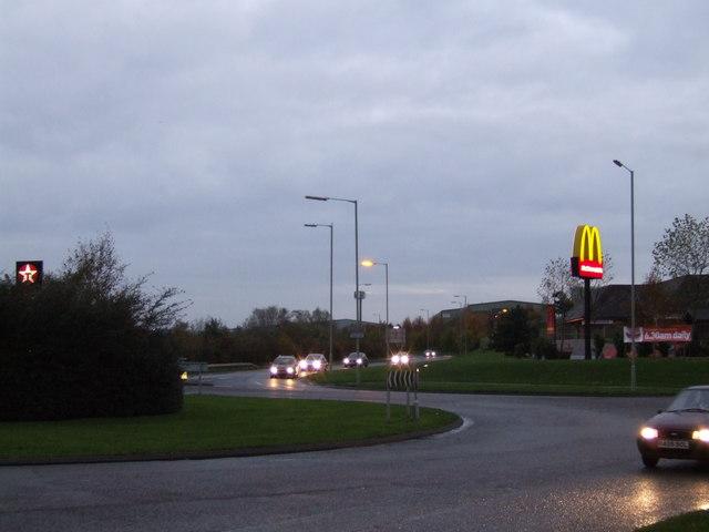 Roundabout Hawks Green
