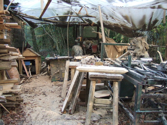 Woodman's workshop, Coed Pengelli