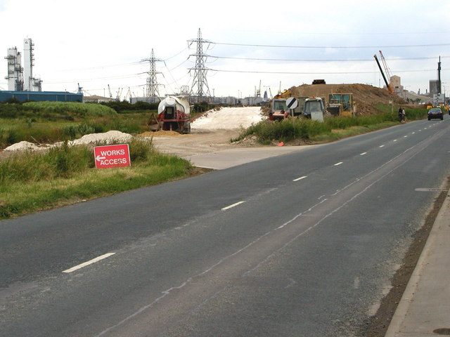 Initial Construction of Saltend Flyover