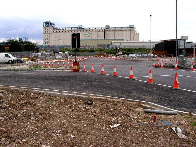 Marfleet Roundabout under Construction