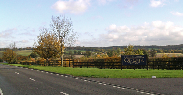 Hobbs Cross Golf Centre and surrounding countryside