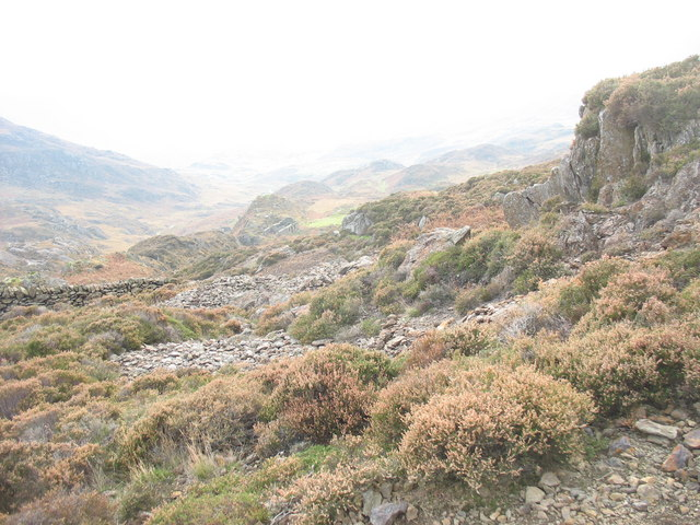 Small open cast workings and spoil heaps