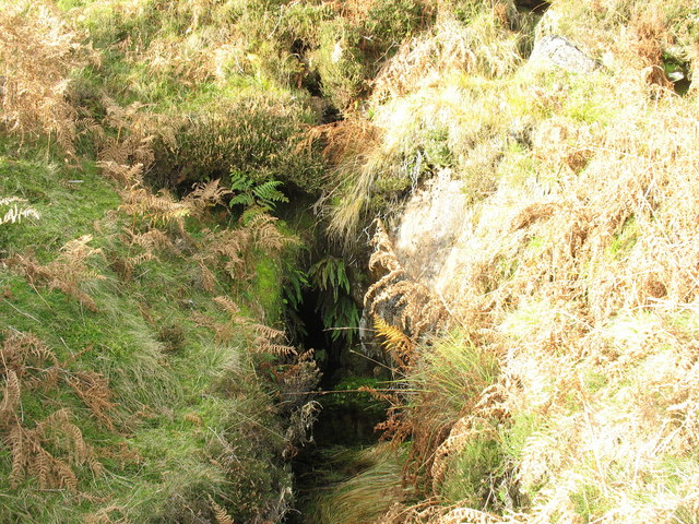 The adit of the lowest of the three upper mine levels