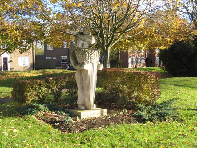 Public artwork on Greatham Green