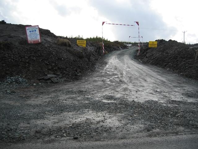 Access road for Ben Aketil wind farm